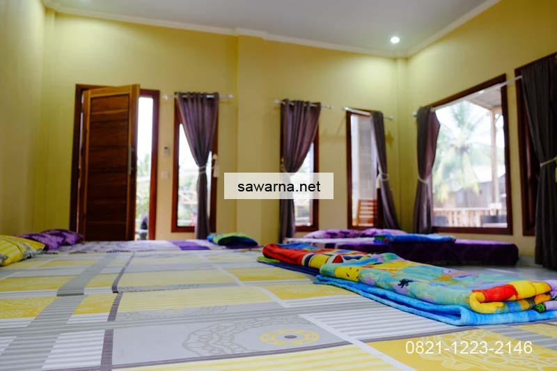 Interior homestay Andrew Sawarna