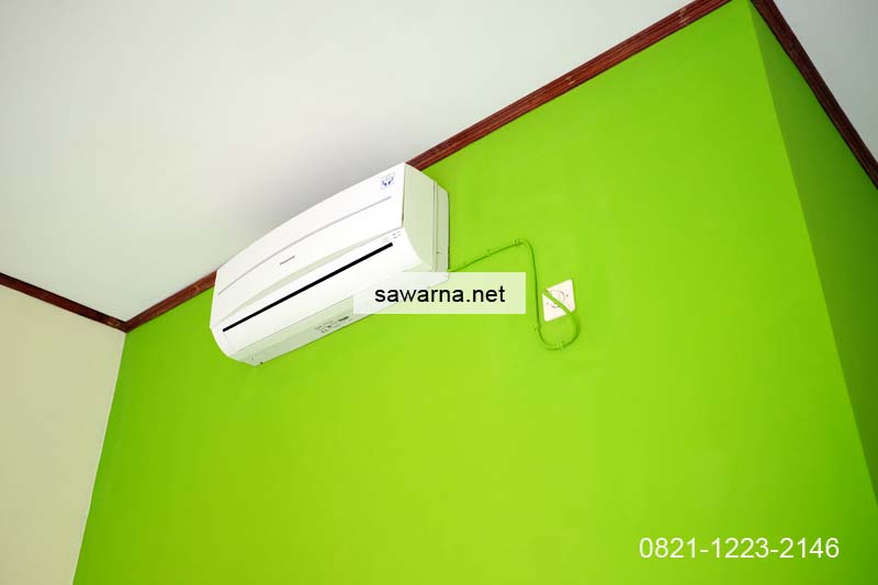 Fasilitas AC penginapan Sawarna