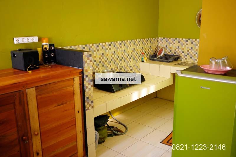 Fasilitas dapur penginapan Sawarna