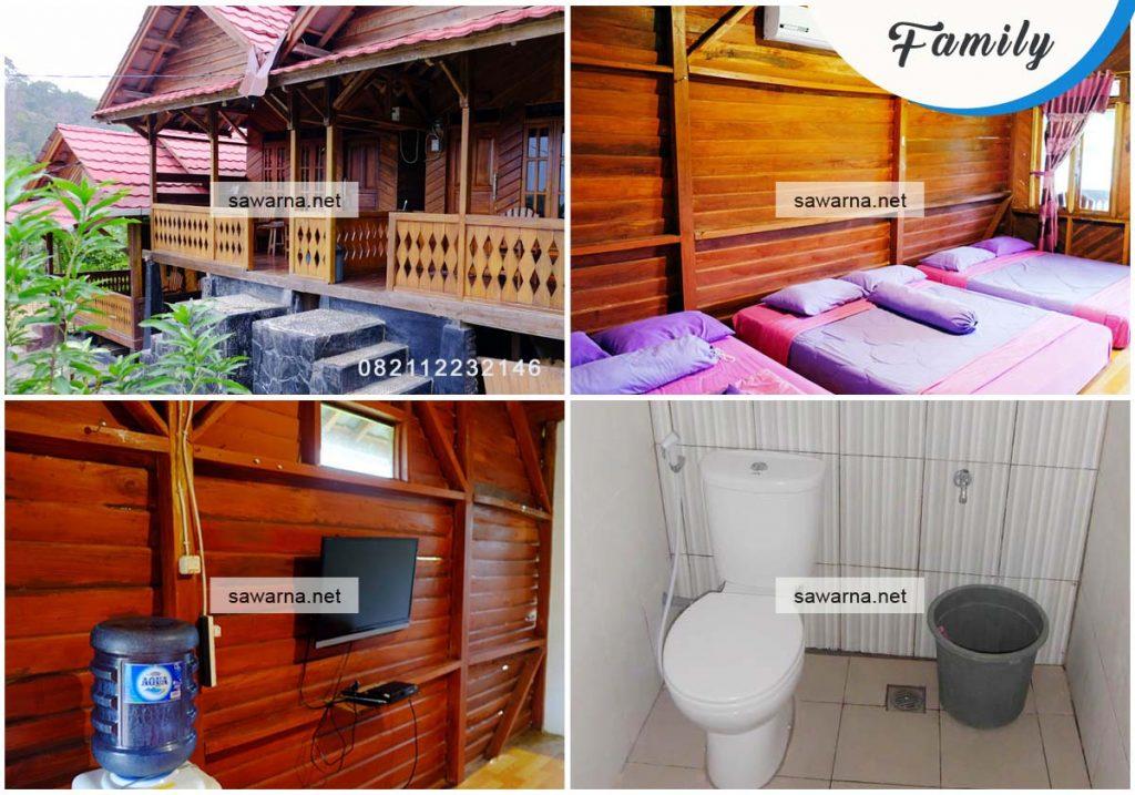 Villa Bukit Indah Sawarna kamar tipe Family Room