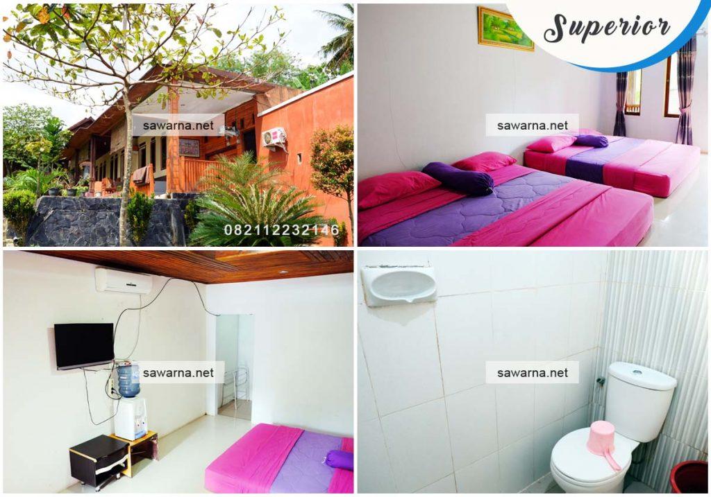 Villa Bukit Indah Sawarna tipe kamar Superior Room