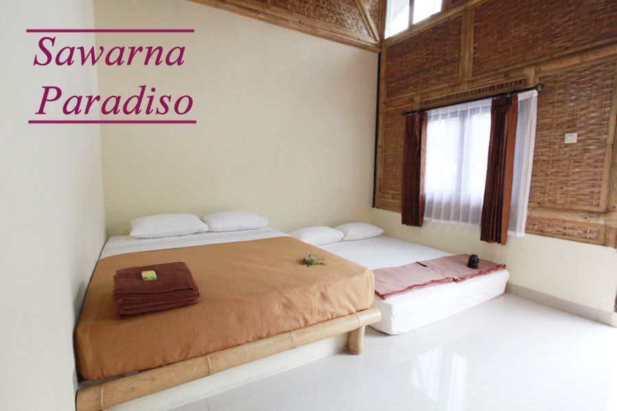 Room Double Bed Resort Sawarna Paradiso