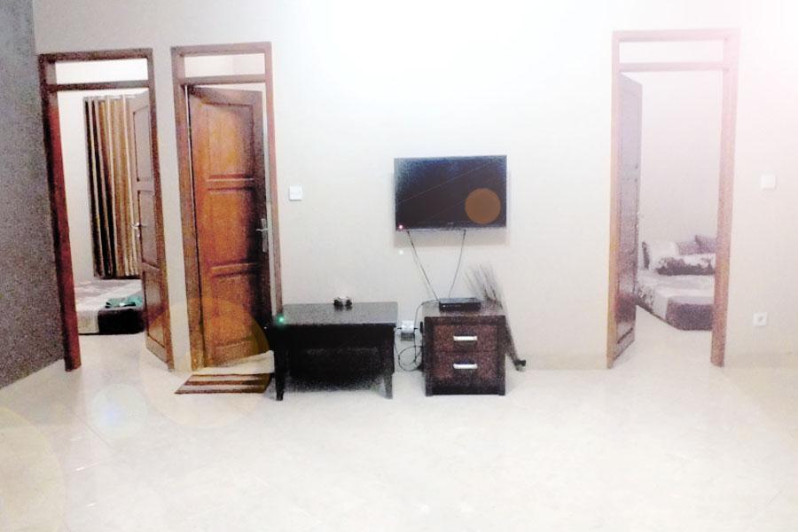 Ruang TV Homestay Widadana Sawarna