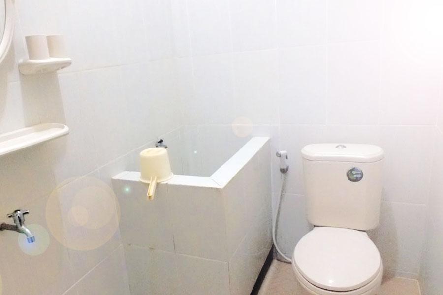 kamar mandi dengan closed duduk Homestay Sawarna